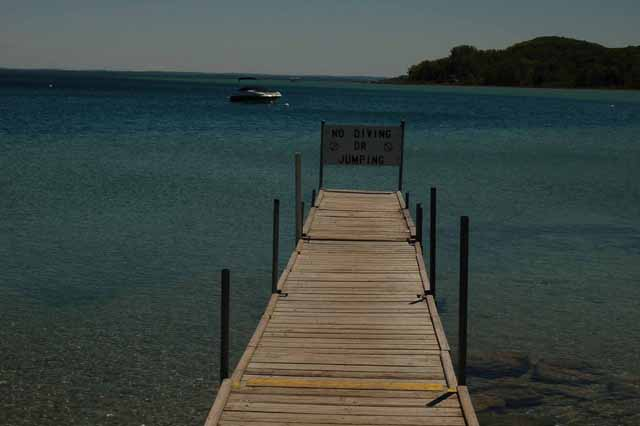 Herston Beach pier over East Traverse Bay